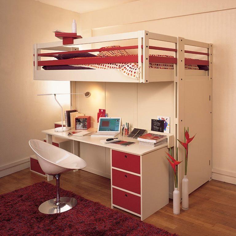 lit mezzanine attic bureau et dressing