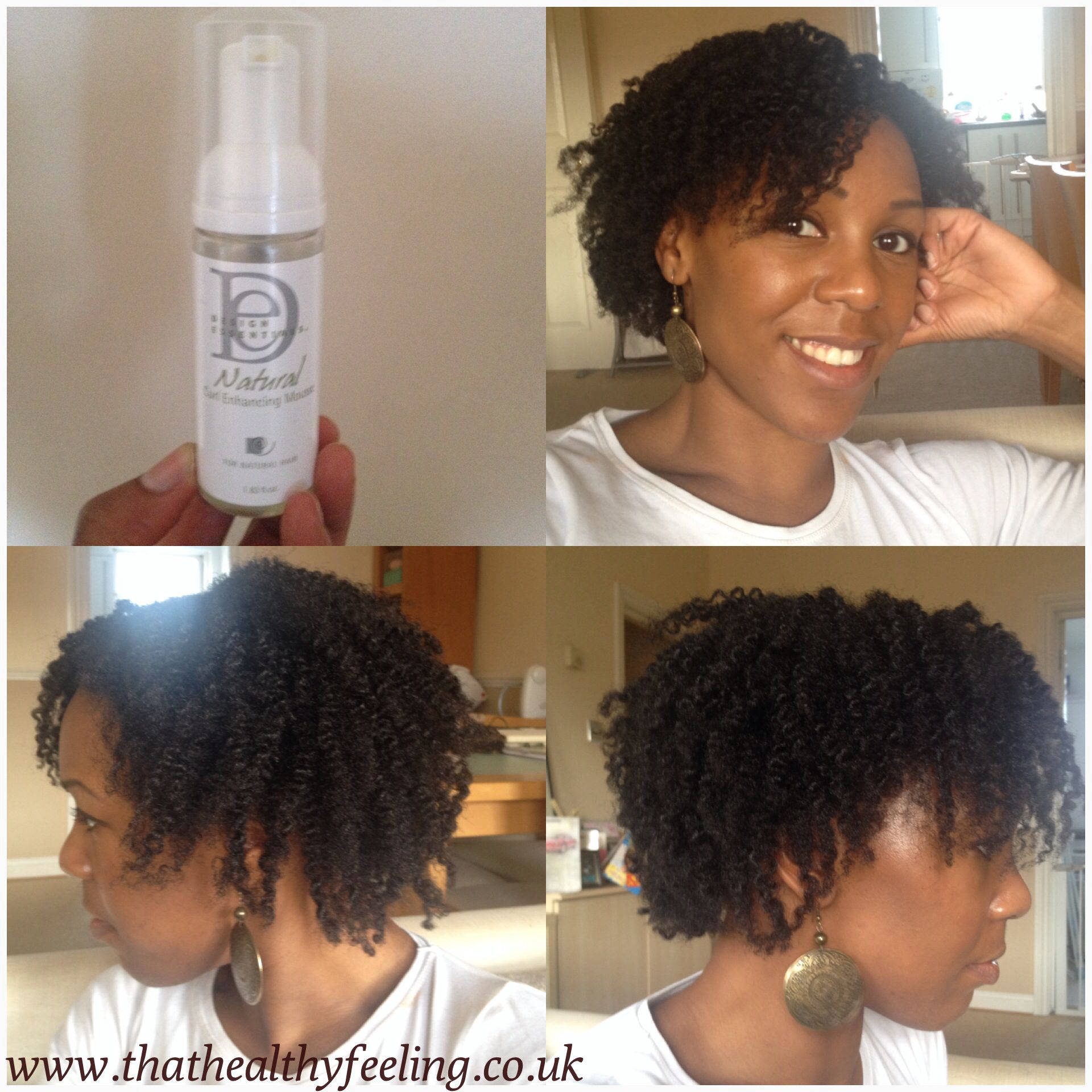 Twist Out Results Using Design Essentials Natural Curl Enhancing