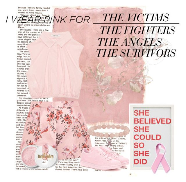 """""""I wear pink for.. #267"""" by infinitydirection on Polyvore featuring Rothko, STELLA McCARTNEY, Terre Mère, adidas Originals, Pottery Barn and IWearPinkFor"""