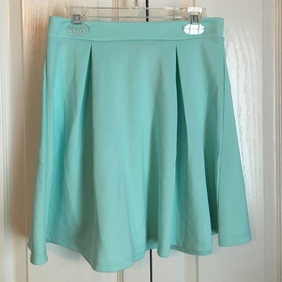 Skater skirt Ⓜ️ Pleated teal skater skirt. High wasted. Length- 16 inches Charlotte Russe Skirts Circle & Skater
