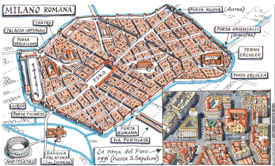 Milano Romana La Mappa Corriere It Milano Romani Roma