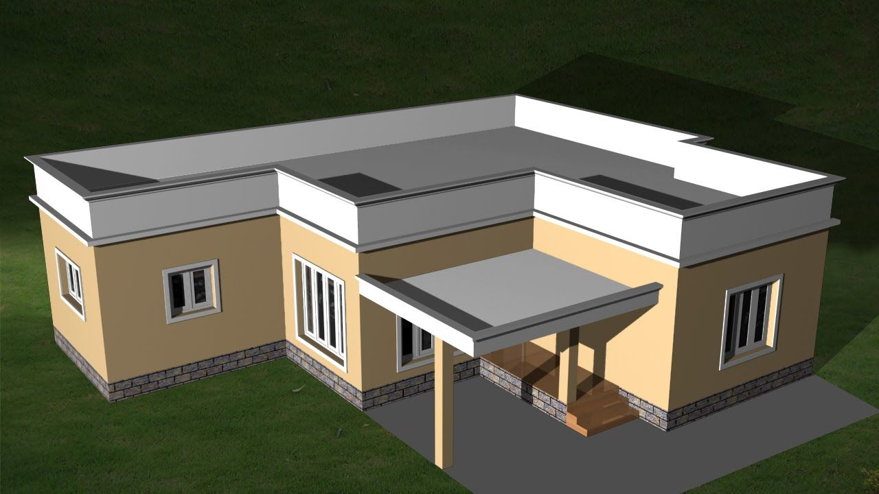 Autocad 3d House Creating Flat Roof Autocad Flat Roof House Roof Design Flat Roof House Flat Roof House Designs