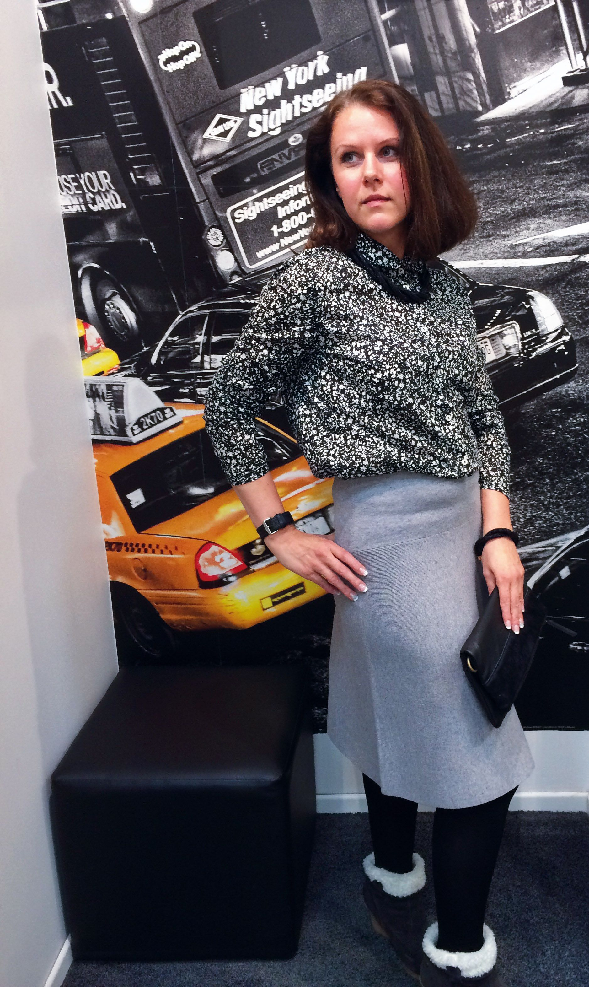 Outfit der Woche! Bluse & Rock: Marc O'Polo – Tasche: Liebeskind – Kette: Samaya #ootw #fashion