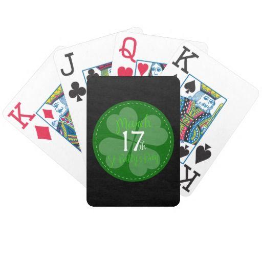 #StPatricksDay #Clover #4Leaf #Luck #irish #Ireland #Pride #IrishPride #faith #Green #StPattyDay #PlayingCard Playing Cards