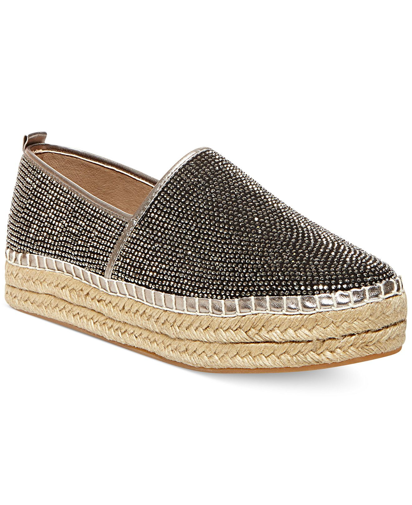 Steve Madden Choppur-R Rhinestone Espadrille Flats - All Women's Shoes -  Shoes - Macy's