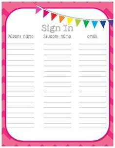 Printable Cheer Sign Up Sheet  Google Search  Cheerleading