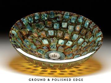 mosaic bathroom sink from alchemy modern home decor