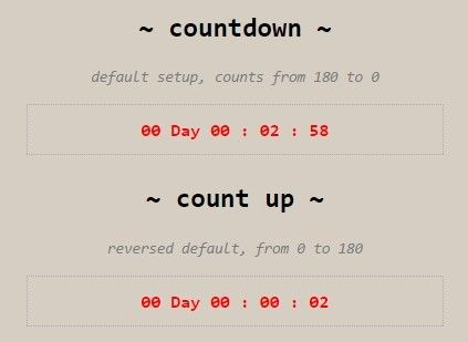 Multipurpose jQuery Counter / Timer Plugin - Missofis