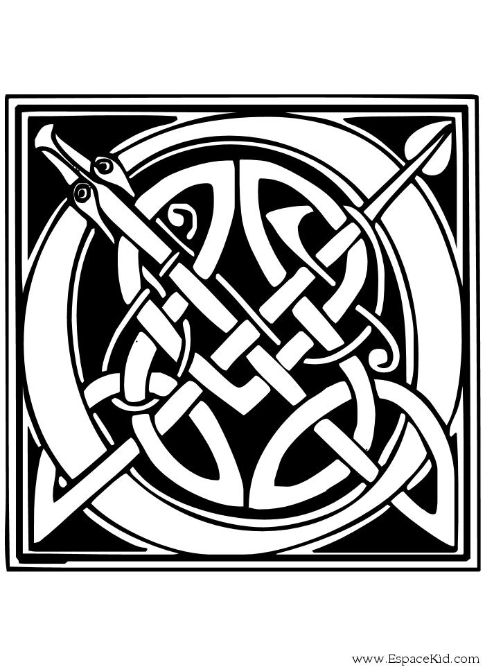 Coloriage lettre o coloriages lettrine celte lettres et lettrines lettrine dessin a - Alphabet a colorier a imprimer ...