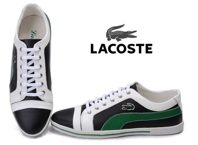 Lacoste Mens Sneaker Black Green White