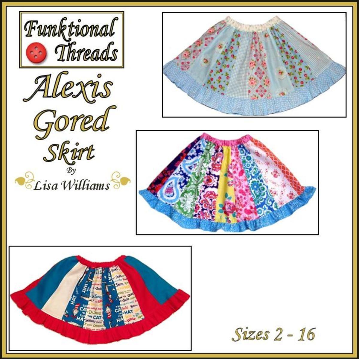 Alexis Gored Skirt: Sizes 2 to 16