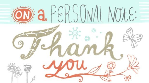 How to write a thank-you note Note, Template and Etiquette - personal thank you letter
