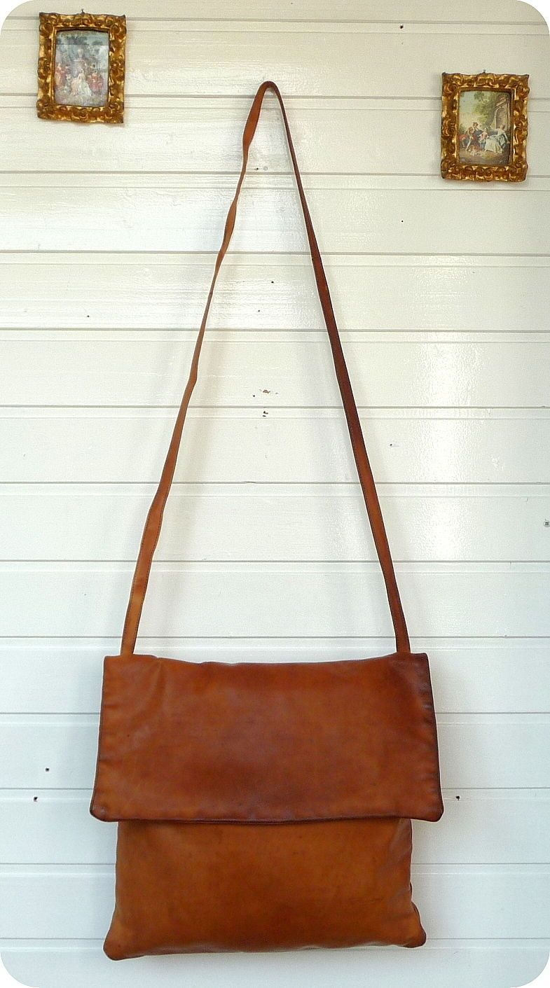 FUNBAG Leder XXL Beutel Shopper Schultertasche Tasche Bag Umhängetasche Uni  Boho | eBay