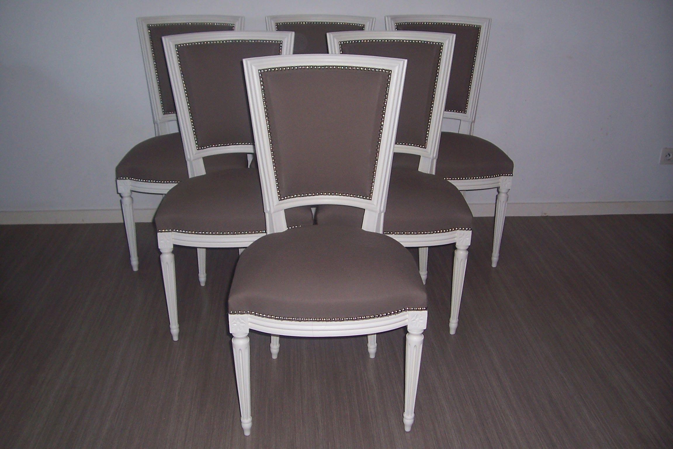 chaises de style louis xvi couleur taupe | relooking meubles ajh