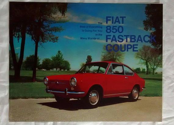 Vintage Fiat 850 Fastback Coupe Brochure C 1968 Car Advertising
