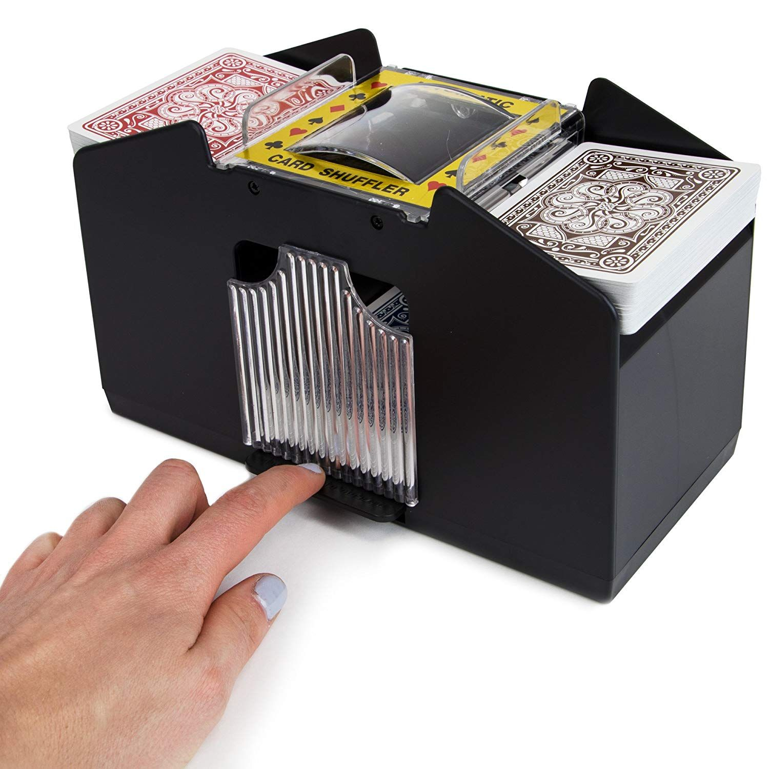 Amazon Com Laser Sports Casino Deluxe Automatic 4 Deck Card Shuffler Sports Outdoors Casino Cards Decorative Boxes