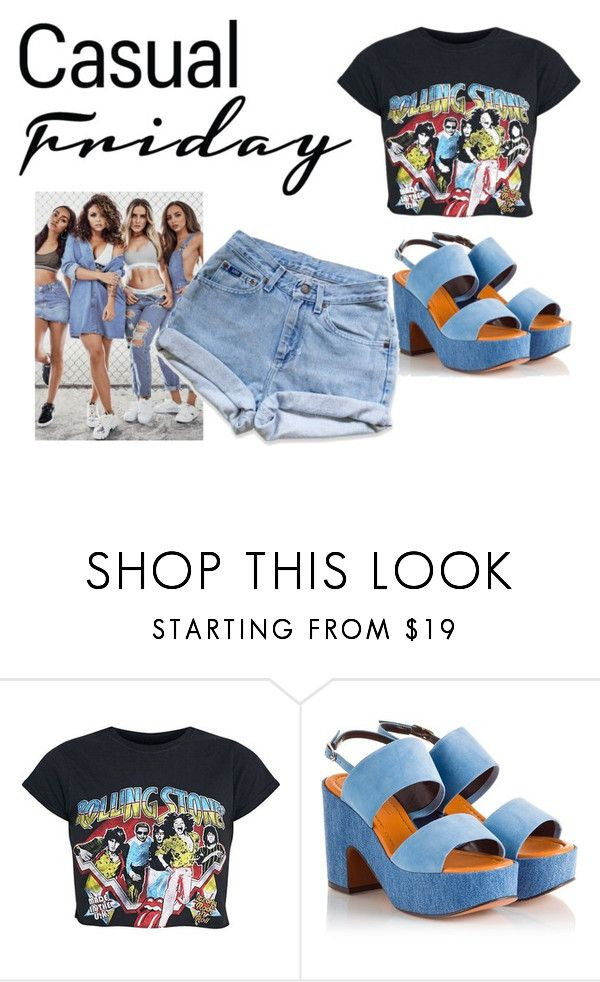"""Jeans, L O V E"" by barbtolo ❤ liked on Polyvore featuring Robert Clergerie and Levi's"