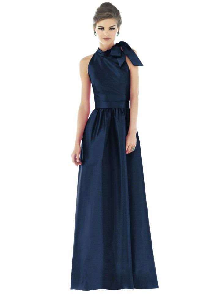Navy Blue Bridesmaid Dress. Cute but could be hard to wear for ...