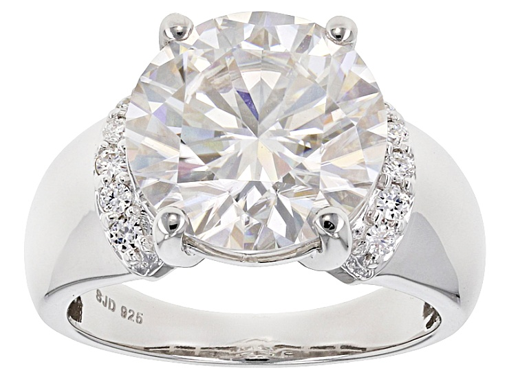 Pre Owned Moissanite Platineve Ring 6 33ctw D E W Moissanite Jewelry Diamond Fire Jewelry
