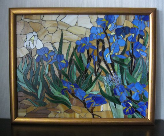 Stained Glass Mosaic Quot Irises Quot Vincent Van Gogh Birthday