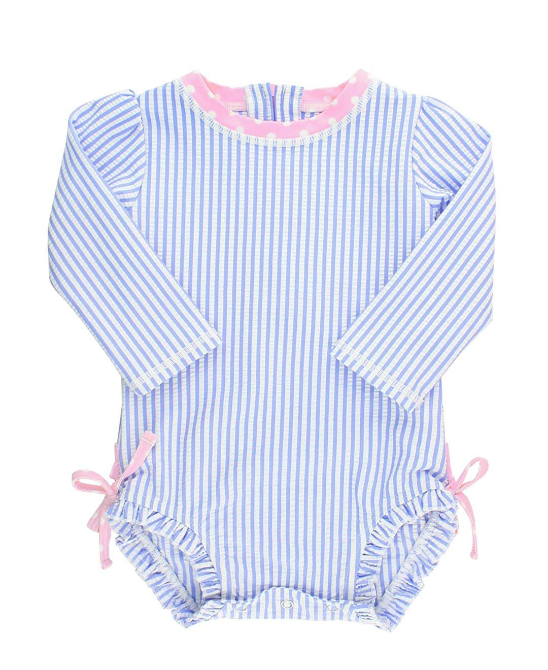 387caabca RuffleButts Baby/Toddler Girls Long Sleeve One Piece Swimsuit with UPF 50+  Sun Protection Price 14,99