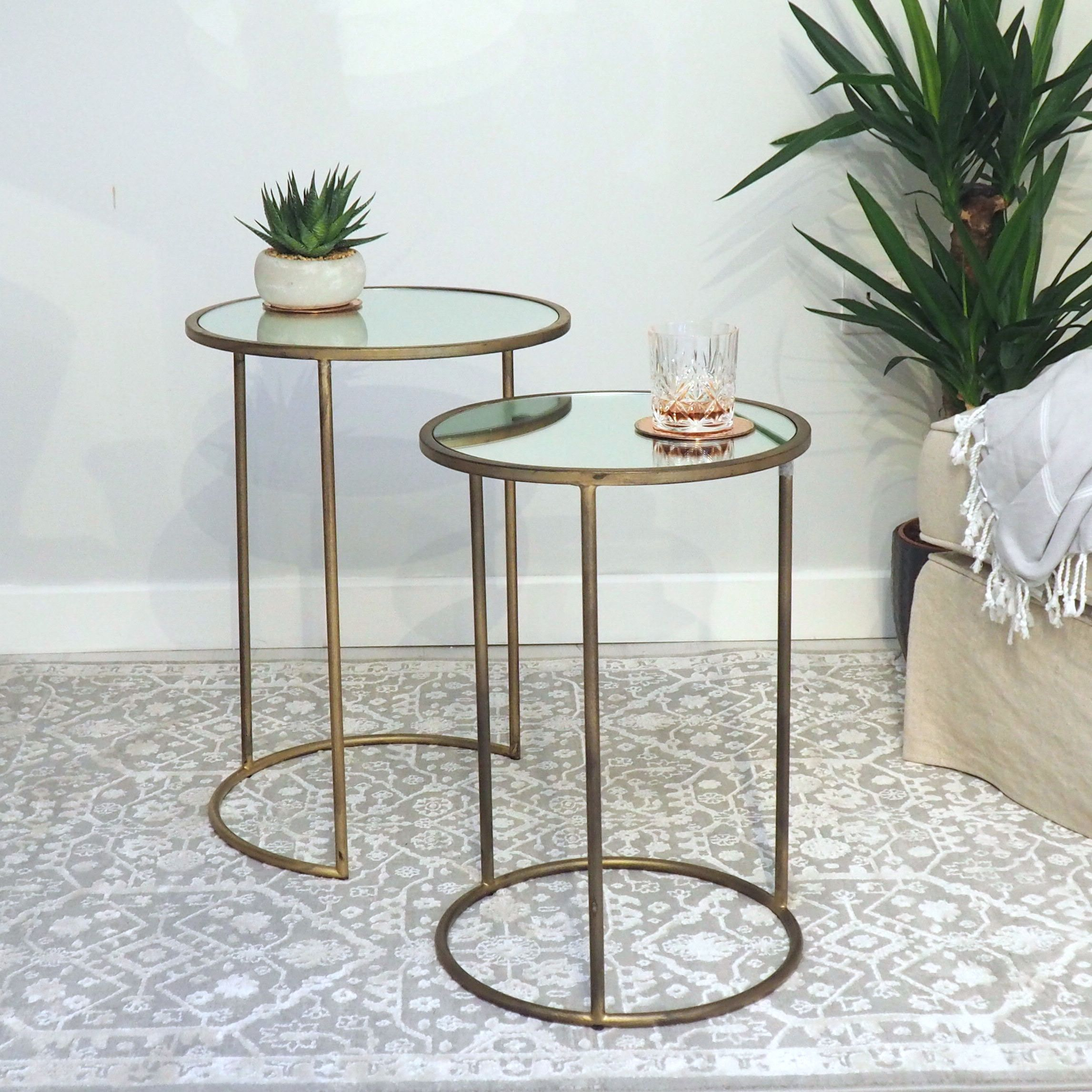 brass and glass nest of tables za za homes in 2020 on exclusive modern nesting end tables design ideas very functional furnishings id=55953
