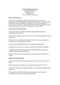 Modelo De Curriculum Vitae Hecho Modelo De Curriculum Vitae En