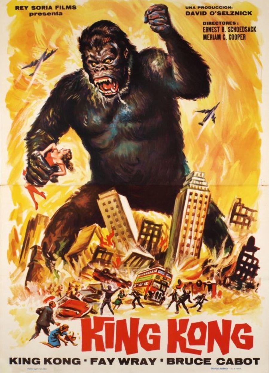 King Kong Movie Poster 1933 King Kong Movie King Kong King Kong Vs Godzilla