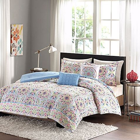 Style your bedroom with the Intelligent Design Zoe Comforter Set for a fun, modern look. Adorned with allover medallions and a decorative border in an array of vibrant colors, the lively bedding instantly brings a touch of whimsy to any room's décor.