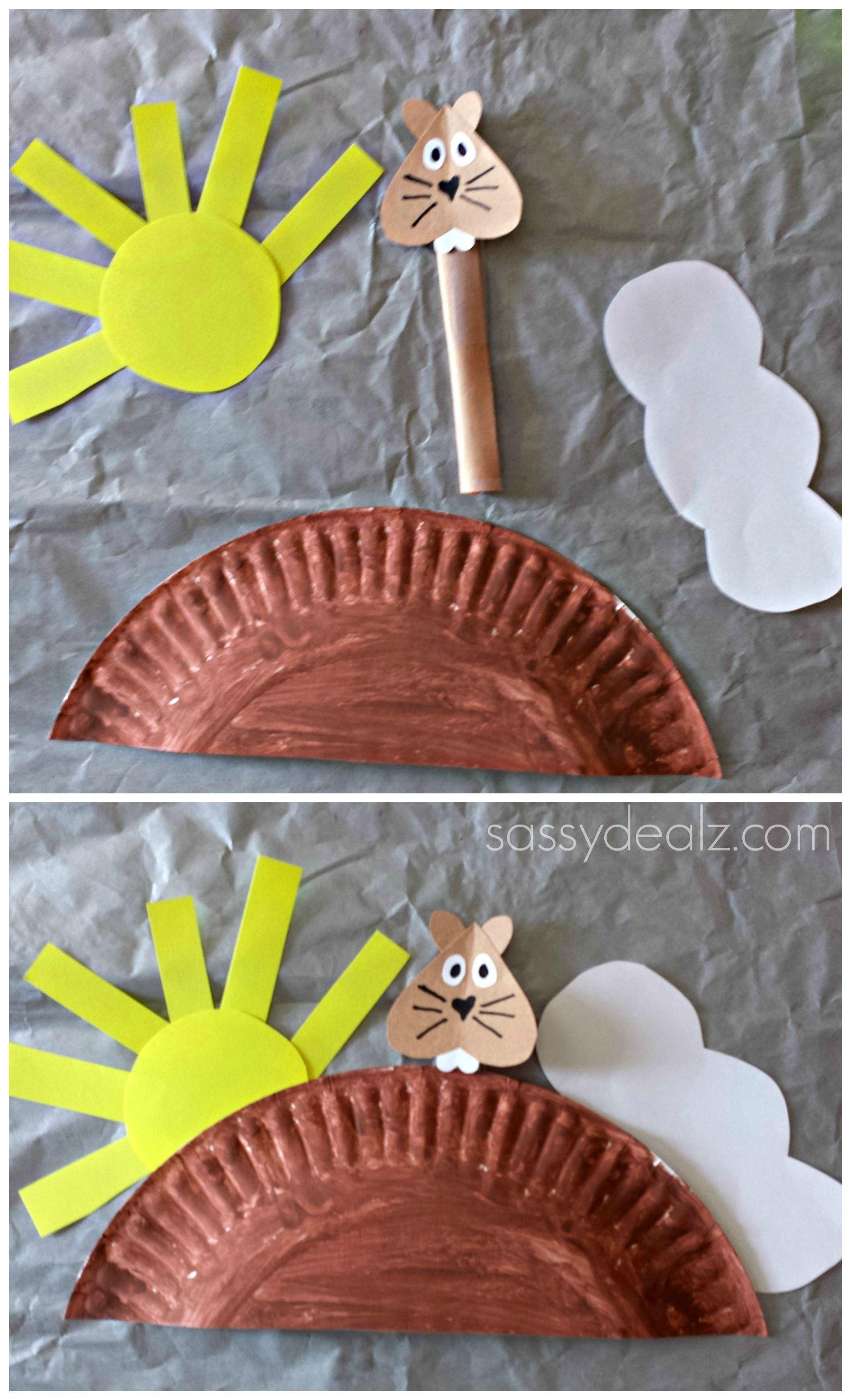 Groundhog Day Craft For Kids Paper Plate Groundhog