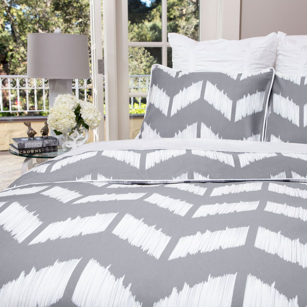 The Addison Gray | Grey duvet, Canopy and Duvet : grey and white chevron quilt - Adamdwight.com