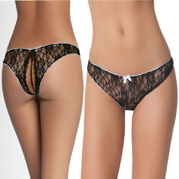 0458328684fa Hot Sexy Seamless Hollow Lace Bowknot Briefs Low Waist Panties - NewChic  Mobile.