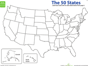 Map The States State Abbreviations The Ojays And Art - Us map with states abbreviated