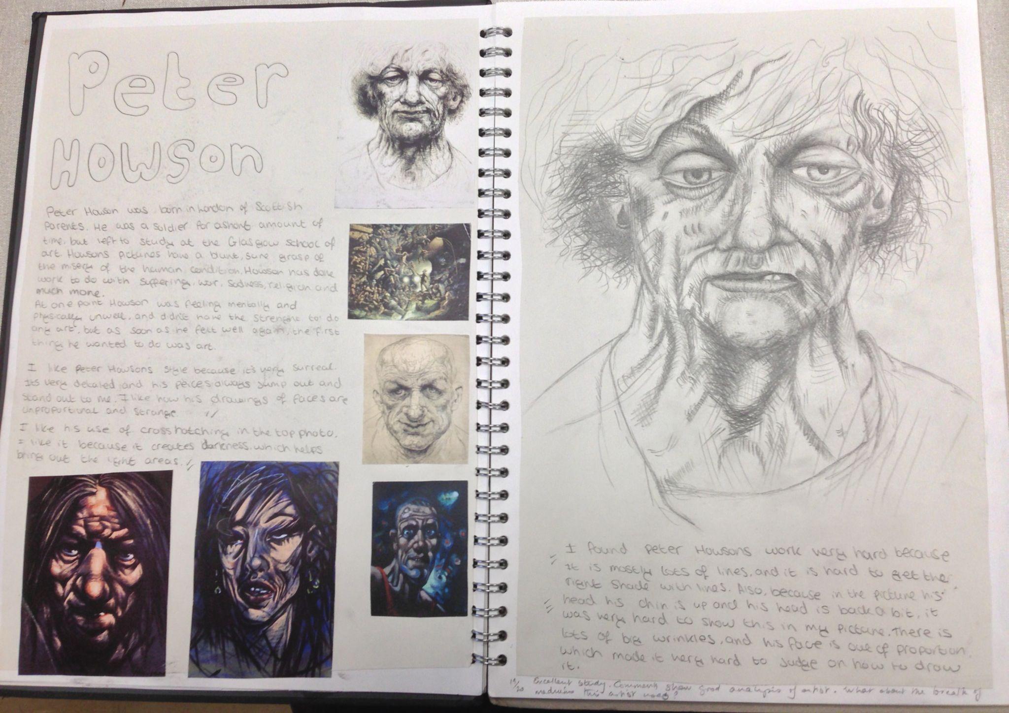 Y10 Gcse Portfolio Project St Mary S Catholic High School Art Sketchbook Sketch Book Advanced Higher Dissertation Examples