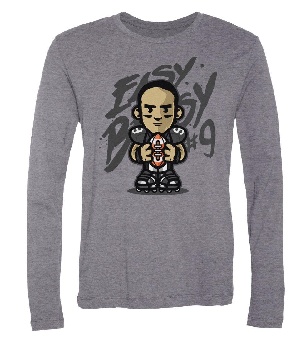best cheap 3c624 6d09c Drew Brees Easy Breesy Long-Sleeve T-Shirt - FanPrint ...