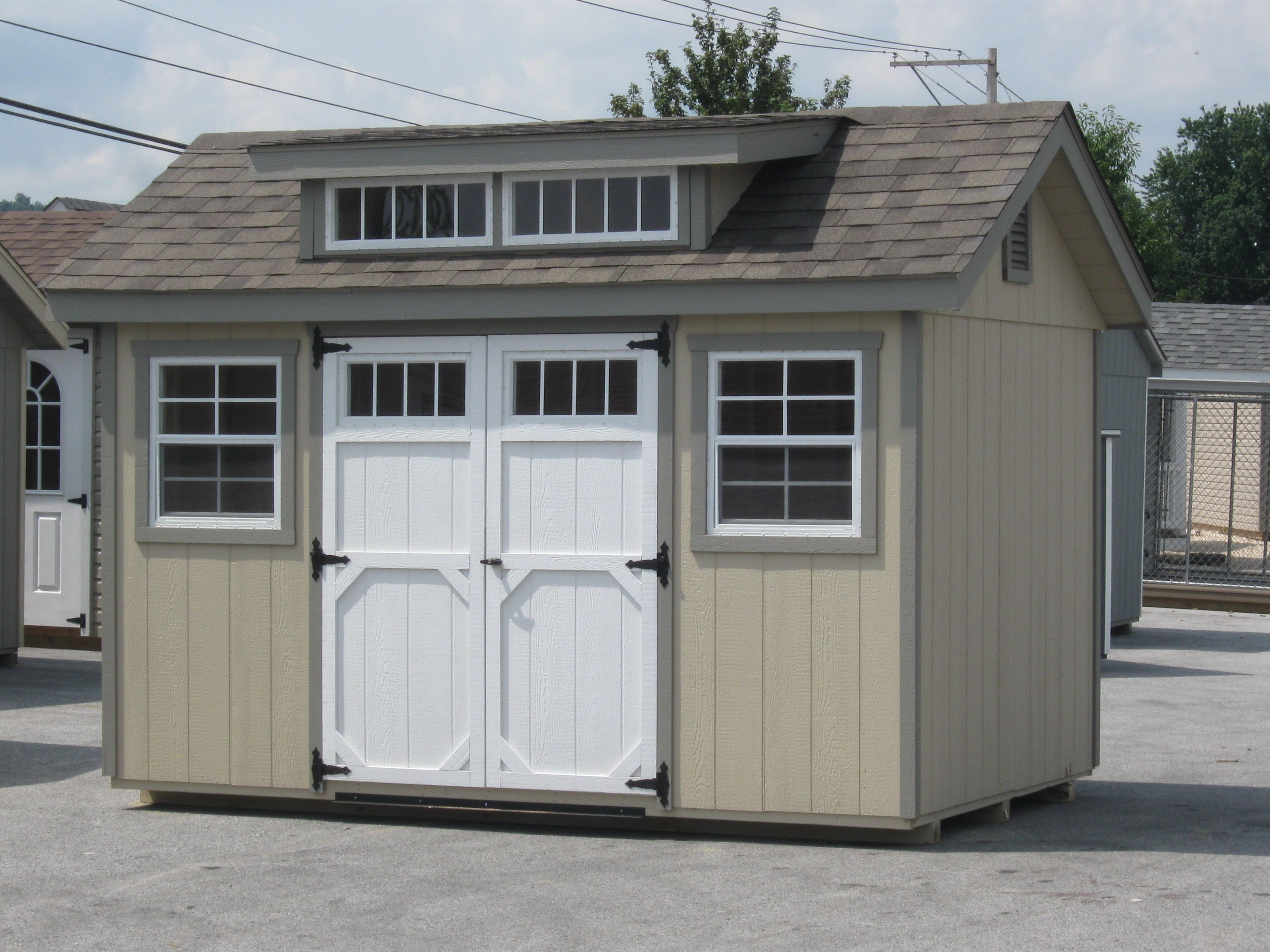 raised amish virginia lp of roof xfoot garages sheds interesting storage full garage size with for