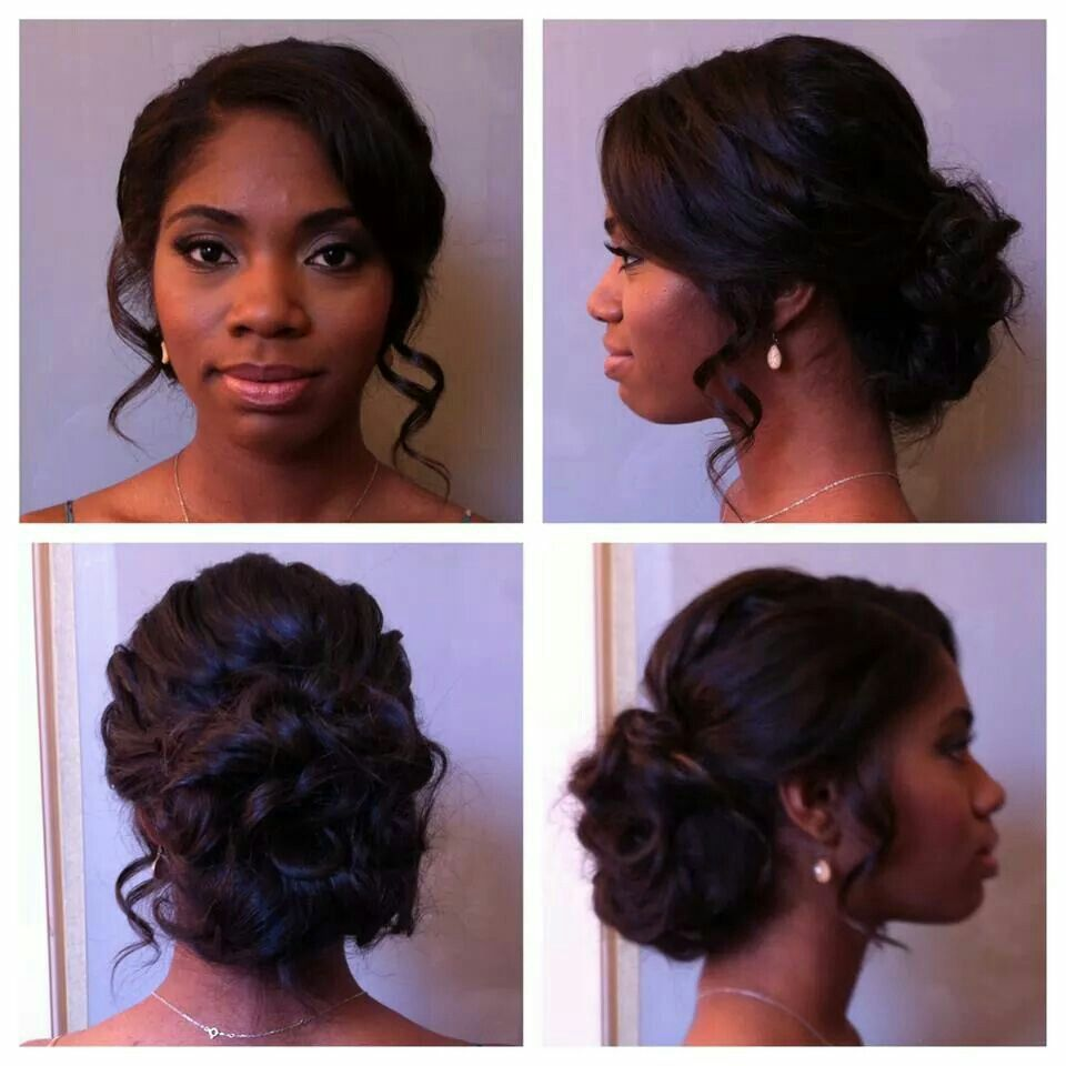 Wedding Day Hair With Images Black Wedding Hairstyles Black Bridesmaids Hairstyles Natural Hair Wedding