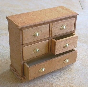 Commode_Bois_Naturel_2.Jpg (368×362) | Гостинные/Livingroom Dollhous
