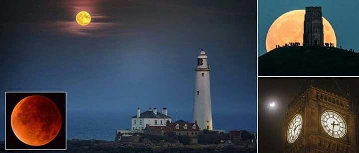 صور جميلة لظاهرة خسوف القمر العملاق محمد New View Lunar Eclipse Sky