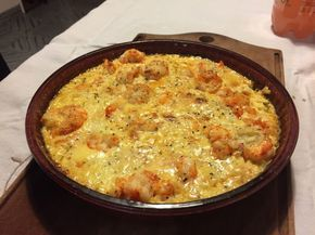 Langostinos Gratinados En Crema De Ajo Cooking Cooking And Baking Food