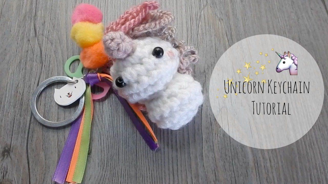 Crochet Unicorn Keychain Tutorial Amigurumi