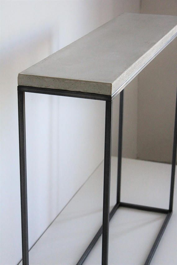 Concrete Console Table Narrow Console Table Concrete