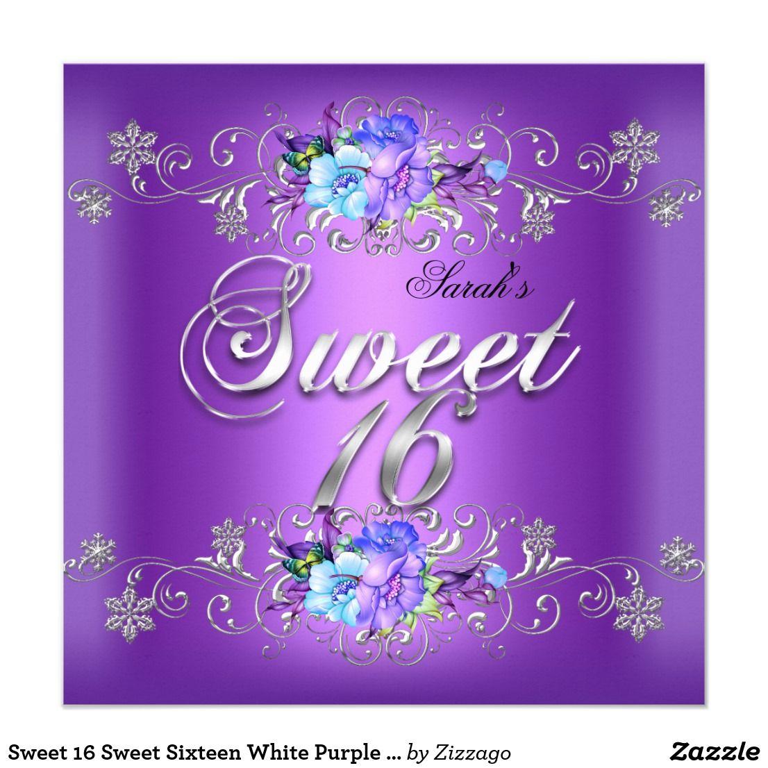 Sweet 16 sweet sixteen white purple flowers card sweet 16 sweet sweet 16 sweet sixteen white purple flowers card sweet 16 sweet sixteen white blue purple flowers izmirmasajfo