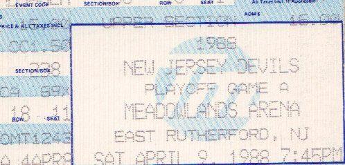 1988 Ticket Stub