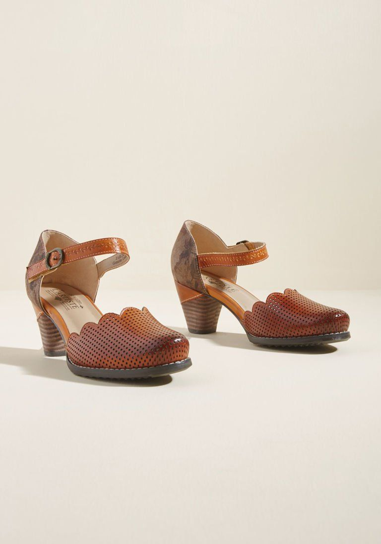 02ce4bd7c41 Unique Sweetness Leather Heel in Caramel in 41 in 2019 | Products ...