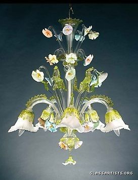 Murano Glass Italian Chandelier