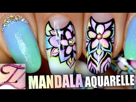 Tuto Nail Art One Stroke Drape Fluo Youtube Avec Images Nail