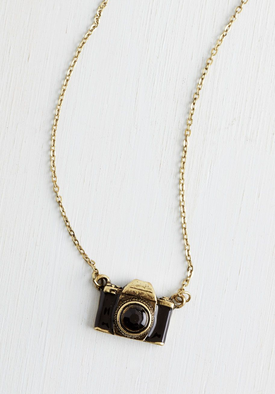 Paper source lesson earned ceramic mug modcloth pendants and what are you waiting photo necklace capture picture perfect style by donning this darling camera pendant black modcloth mozeypictures Images