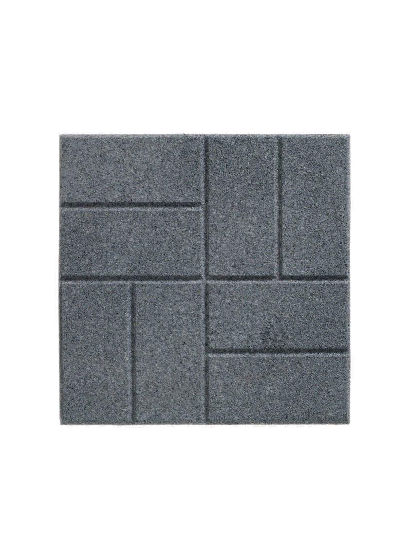 Rubber Paver 16x16 Brick Or Flagstone By Rubberific Gardeners Com In 2020 Rubber Paver Outdoor Rubber Tiles Recycled Rubber Pavers