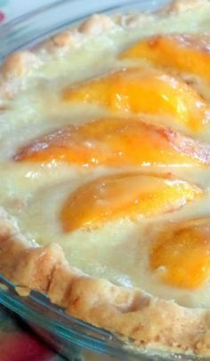 Peaches and Cream Pie ~ sweet peaches nestled in a creamy vanilla custard, cradled in a rich, buttery, and flaky crust.